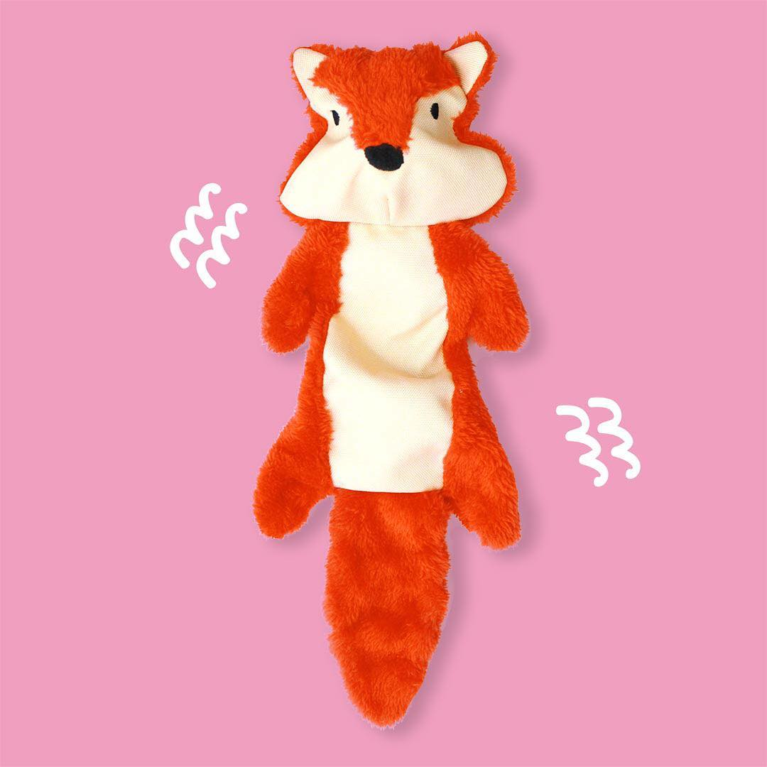 Chad the Chipmunk squeaks, crinkles and stretches. He loves to play!  Is Chad on